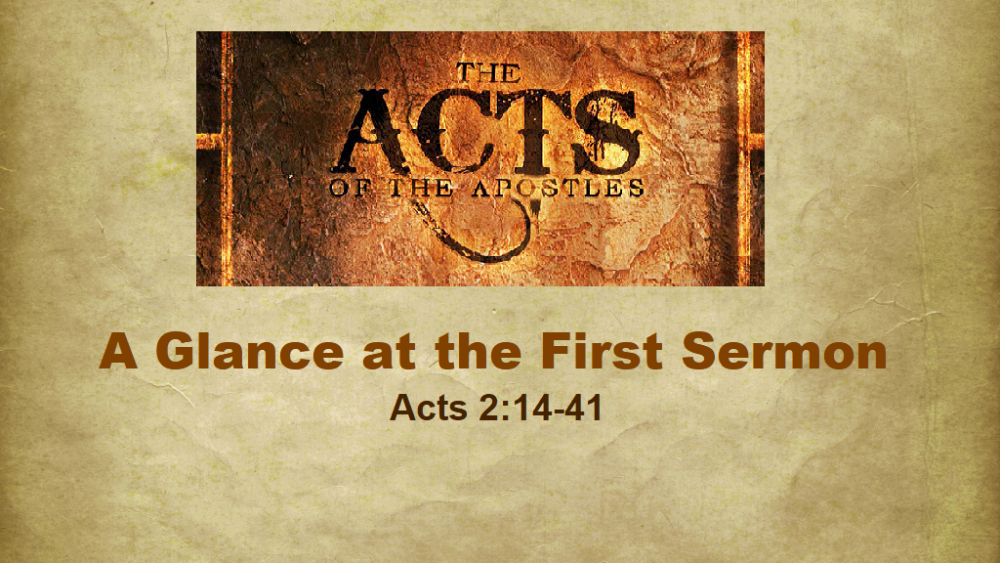 A Glance At The First Sermon
