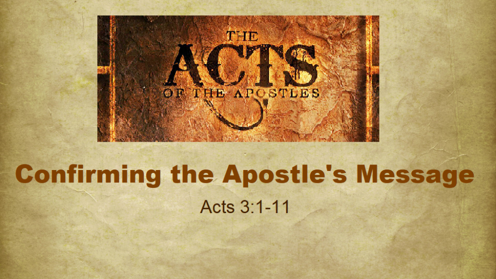 Confirming The Apostle\'s Message
