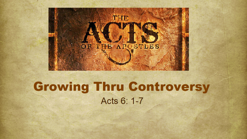 Growing Through Controversy