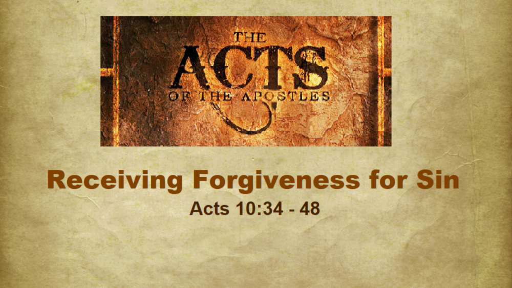 Receiving Forgiveness for Sin