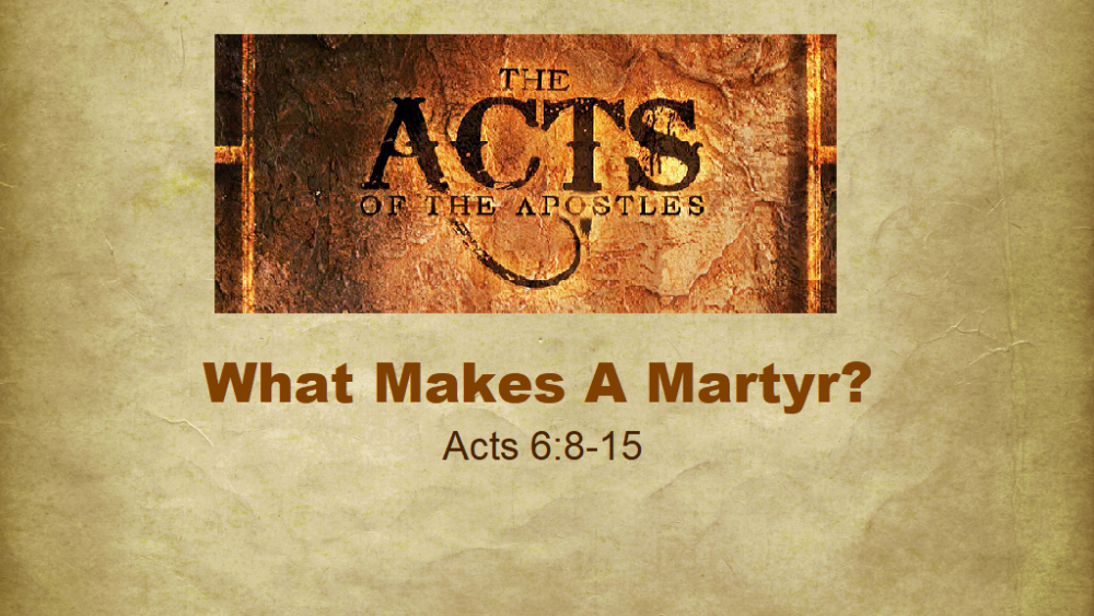 What Makes A Martyr?