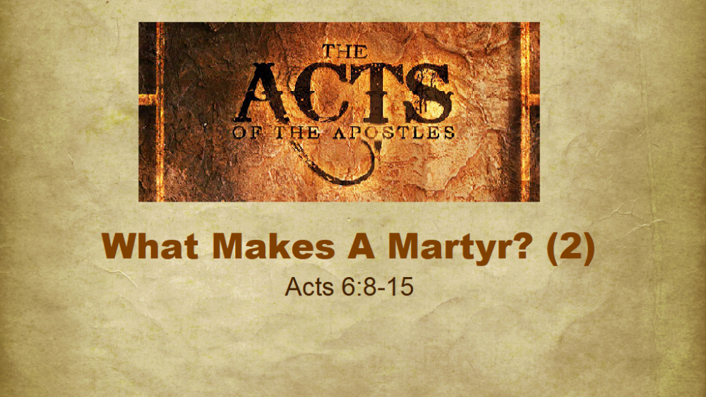 What Makes A Martyr? - Part 2