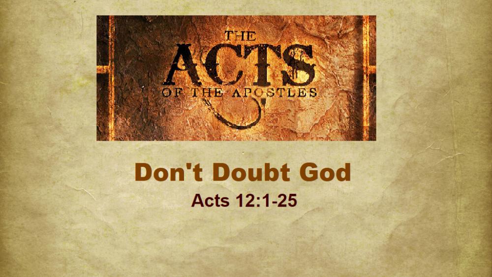 Don\'t Doubt God